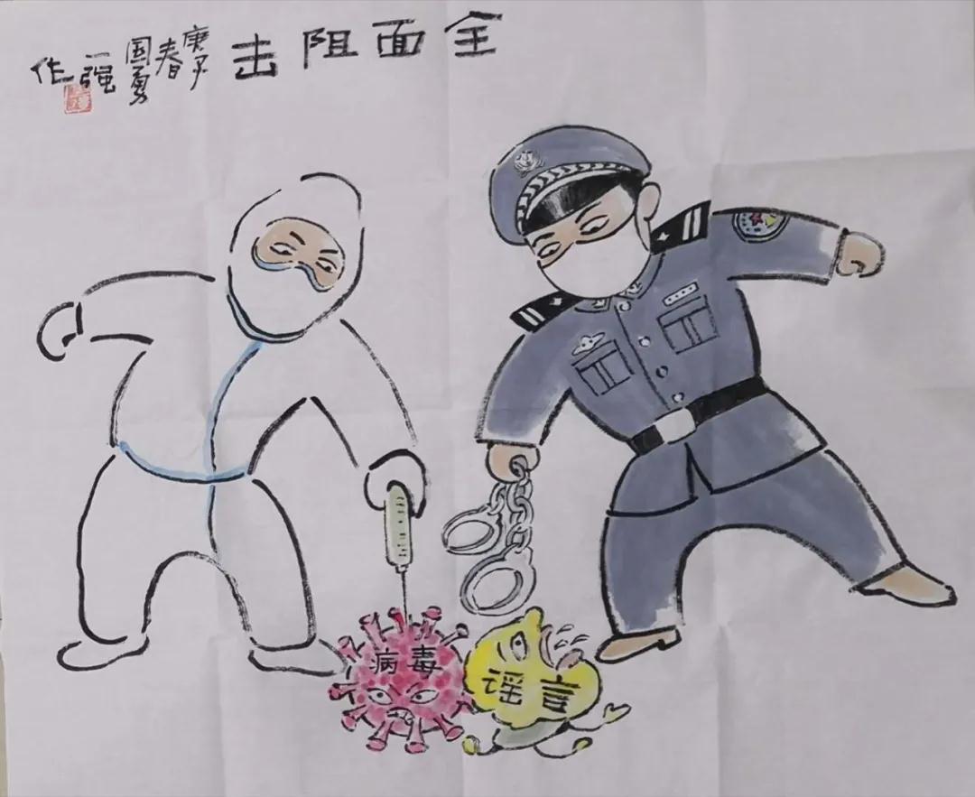 """江西公安文联用艺术传递战""""疫""""力量"""