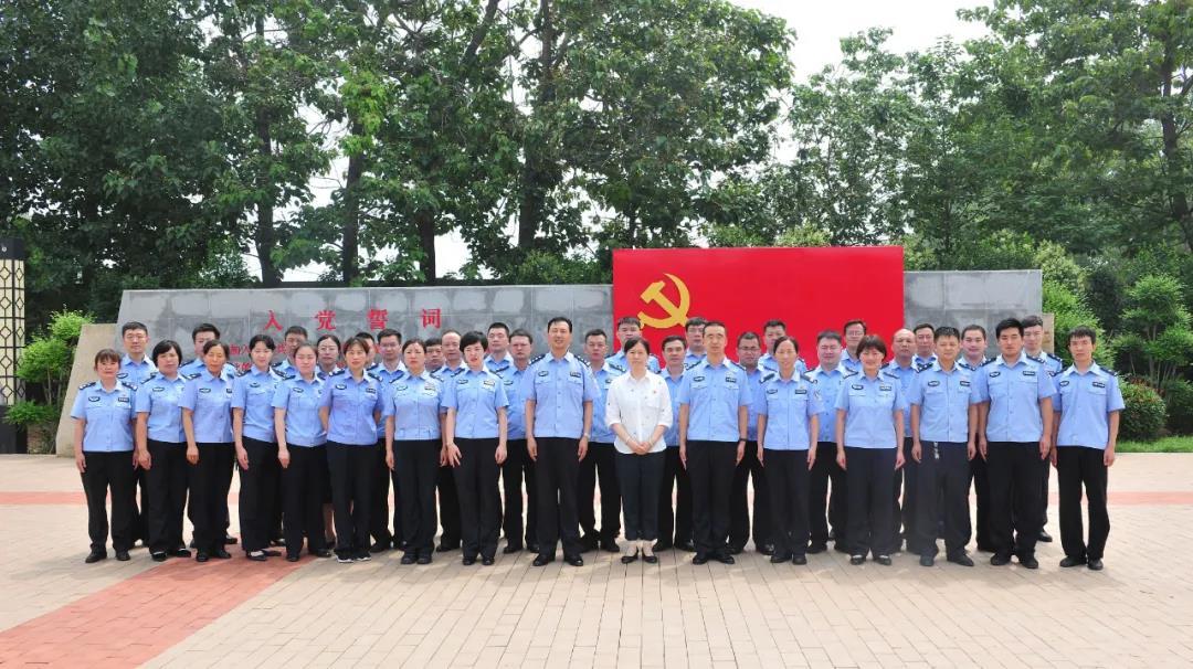 河南鹤壁市公安局组织庆祝建党99周年党建观摩活动